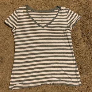 Gap Vneck Short Sleeve Tshirt Striped